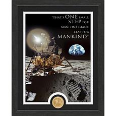 Highland Mint Apollo Moon Landing Quote Bronze Coin Photo Mint