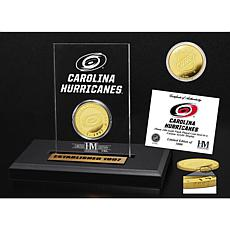 Highland Mint Carolina Hurricanes Gold Coin Etched Acrylic