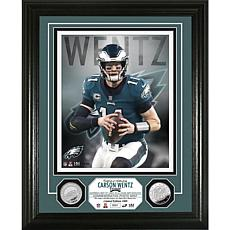 Highland Mint Carson Wentz Silver Coin Vertical Photo Mint