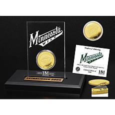 Highland Mint Minnesota Wild Gold Coin Etched Acrylic