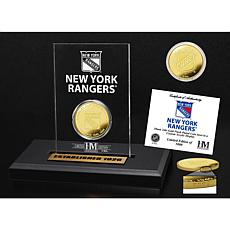 Highland Mint New York Rangers Gold Coin Etched Acrylic
