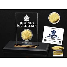 Highland Mint Toronto Maple Leafs Gold Coin Etched Acrylic