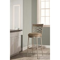Hillsdale Furniture Hutchinson Swivel Counter Stool -Pewter/Aged Ivory