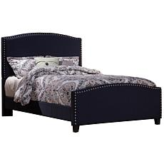 Hillsdale Furniture Kerstein Full Bed with Rails - Navy Linen