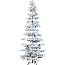 Hillside Slim 7-1/2' Pine Christmas Tree with Lighting