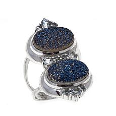 Himalayan Gems™ Blue Drusy and Blue Topaz Ring