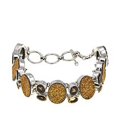 Himalayan Gems™ Goldtone Drusy and Gem Bracelet