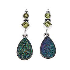 Himalayan Gems™ Green Drusy and Peridot Earrings