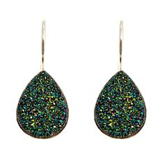 Himalayan Gems™ Green Drusy Pear-Shaped Earrings