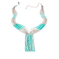 "Himalayan Gems™  ""Kinaara"" Green Potay Tassel 23"" Necklace"