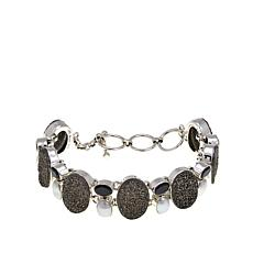 Himalayan Gems™ Marcasite-Tone Drusy and Gem Bracelet
