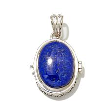 "Himalayan Gems™ Oval Lapis ""Secret Locket"" Pendant"