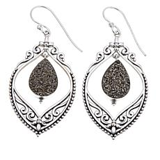 Himalayan Gems™ Platinum-Tone Drusy Filigree Earrings