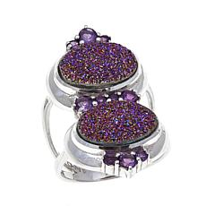 Himalayan Gems™ Purple Drusy and Amethyst Ring