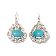 Himalayan Gems™ Turquoise and Moonstone Drop Earrings