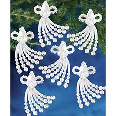 Holiday Beaded Ornament Kit - Chenille Angel, Makes 12