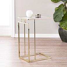 Holly & Martin Colbi C-Table - Champagne/White Marble Glass