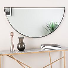 "Holly & Martin Decorative 48"" Demilune Mirror - Black Nickel"