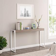 Holly & Martin Macen Narrow Console - Mocha Gray/White