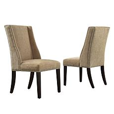 Home Origin Set of 2 Westgate Chenille Wingback Chair - Tan