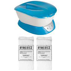HoMedics Blue ParaSpa Plus Paraffin Bath with Paraffin Wax Refill
