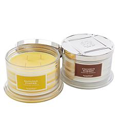 HomeWorx by Harry Slatkin 2-pack 4-Wick Candles - Gourmand Collection