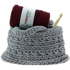 Hoooked Revisto Basket Kit with Zpagetti Yarn - Medium Gray