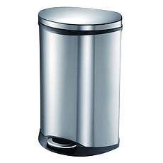 Household Essentials 50-Liter Step Steel Waste Bin