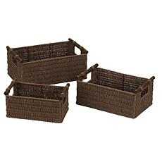 Household Essentials™ Paper Rope Natural Stain Baskets