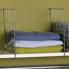 Household Essentials Set of 2 Shelf Dividers - Chrome