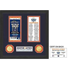 Houston Astros 2017 World Series Ticket Collection
