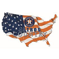 Houston Astros USA Shape Flag Cutout