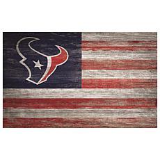 Houston Texans Distressed Flag 11x19