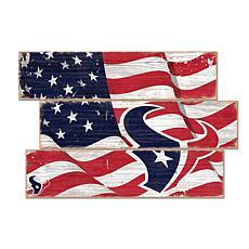 Houston Texans Flag 3 Plank