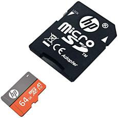 HP 64GB MicroSDXC Memory Card with SD Adapter