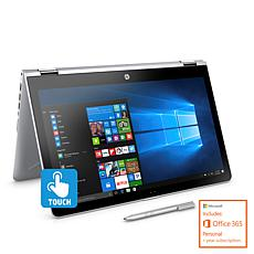 "HP Pavilion x360 15.6"" Touch Intel 1TB HDD Laptop w/Microsoft Office"