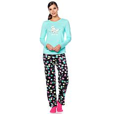 HUE 2pc Whimsical Print Pajama Set with Socks - Missy