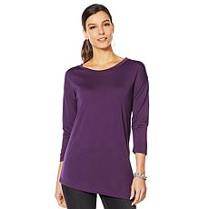 HUE 3/4-Sleeve Crew Neck Tunic - Plus