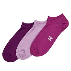 HUE Color Mood 3pk Super Soft No-Show Socks