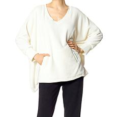 Hue Fleece V-Neck Poncho