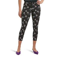 HUE Floral-Print Denim Capri Legging - Plus