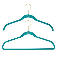Huggable Hangers 100-pack of Shirt & Suit Hangers with Brass Hooks
