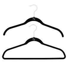 Huggable Hangers 100-pack of Shirt & Suit Hangers with Chrome Hooks