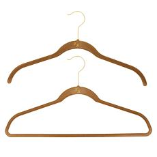 Huggable Hangers 20-pack of Shirt & Suit Hangers with Brass Hooks