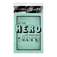 Hunkydory Crafts For the Love of Stamps - Be the Hero A6 Stamp Set
