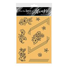 Hunkydory Crafts For the Love of Stamps - Florals & Frames A6 Set