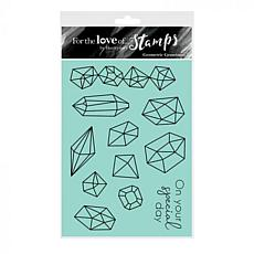 Hunkydory Crafts For the Love of Stamps - Geometric Gemstones A6 Set
