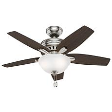 "Hunter 42"" Newsome  Ceiling Fan with  Lights and Pull Chain - Nickel"