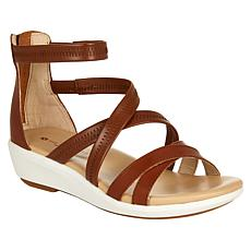 Hush Puppies Lyricale Back Zip Leather Gladiator Sandal