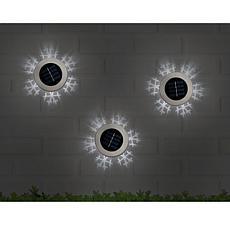 Ideaworks Set of 3 Snowflake Solar Lights